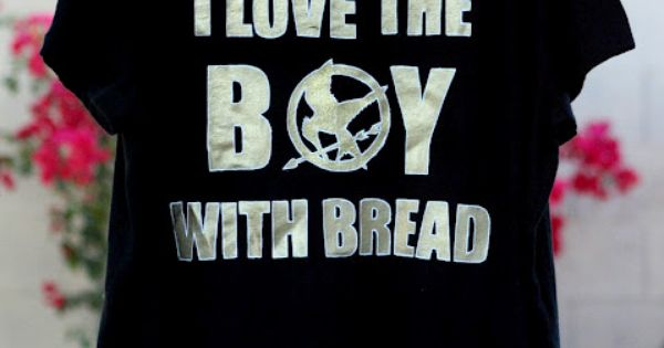Tutorial: Freezer Paper Stenciled Hunger Games T-shirt