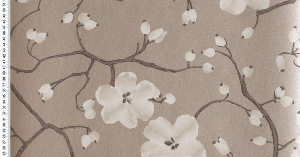 poppy nougat glac papier peint tiffanie coquelicots. Black Bedroom Furniture Sets. Home Design Ideas