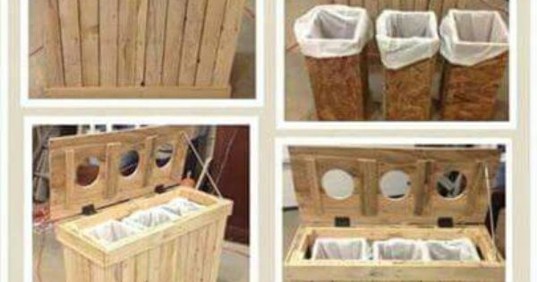 poubelle pour le tri s lectif mfag pinterest t projets en bois de palette et. Black Bedroom Furniture Sets. Home Design Ideas