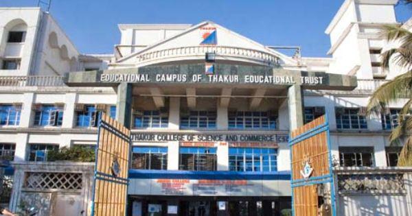 Thakur College Of Science Commerce Mumbai College Mumbai Commerce
