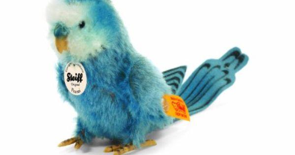 Steiff 33339 Franzi Wellensittich Blau 13 Cm Amazon De Spielzeug Niedliche Stofftiere Wellensittich Sittich