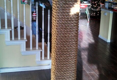 Rope Wrapped Column For Boat Nautical Decor Would Be