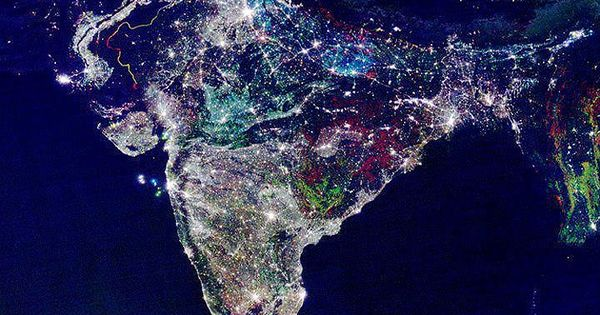 pxrception: peachnaked: abseunt: unconsciousearth: NASA released a satellite image of india in