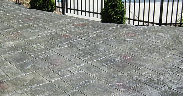 Stamped Concrete Patio In Ashlar Slate Pattern With