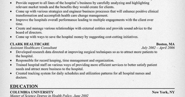Healthcare Consultant Resume Example + Free Resume (http://resumecompanion.com) #health #career