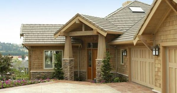 Ranch home with cedar shake siding reinvented style for Cedar shake home plans
