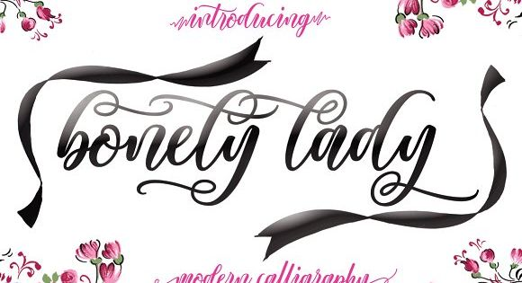 BonetyLady is a modern calligraphy font, with characters dance along the baseline and elegant touch