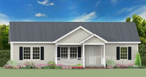 Eldorado Ranch Modular Home 7 12 Roof Pitch Optional Covered Front Porch Building Plans House Modular Homes House With Porch