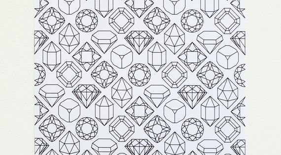gems & crystals // printable paper gift wrap