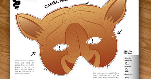 Camel Mask Photo Booth Prop Costumes for Kids