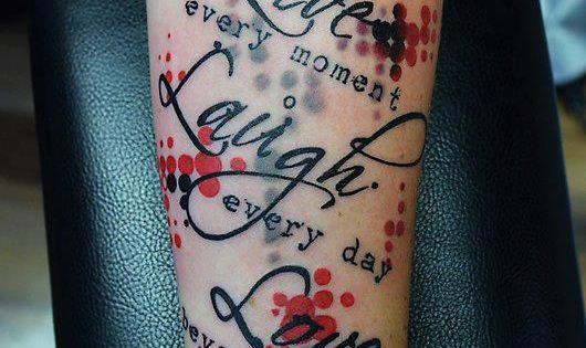 Trash polka tattoo live laugh love tattoo for Love sick tattoo