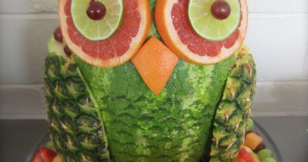Watermelon Owl   Watermelon   Pinterest   Owl, Babies and Food