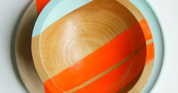 Artist Nicole Porter caught our eye with these graphic wooden bowls. Check