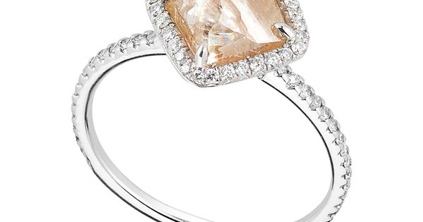 uncut diamond engagement ring - Google Search