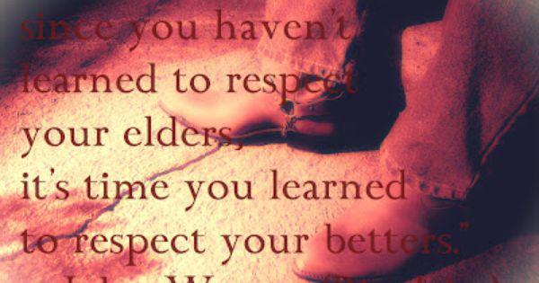 Definition of respect your elders
