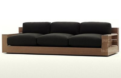 WS65 Wooden contemporary sofa set | Wooden sofa, Wooden sofa ...