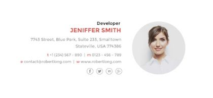 Creative Professional Email Signature Templates To End Emails On The Right Note Email Signatures Email Signature Templates Professional Email Signature