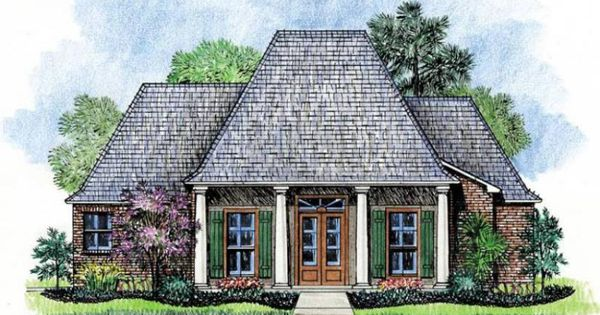Creole House Plans With Porches French Acadian Homes Louisiana Look Buildings Pinterest