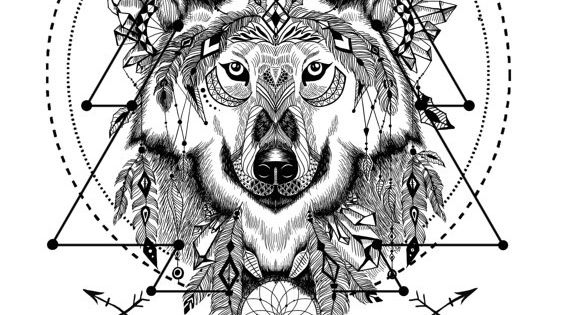 Wild and free spirit animals - printable coloring book ...