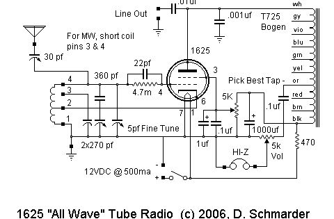 dave schmarder u0026 39 s 1625 all wave receiver schematic