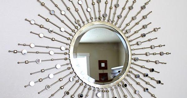 Diy Starburst Mirror Craft Amp Diy Ideas Pinterest Sun