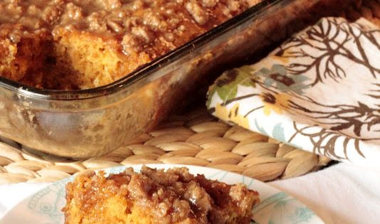 'Note to self: MUST make this during the fall!!' Pumpkin coffee cake