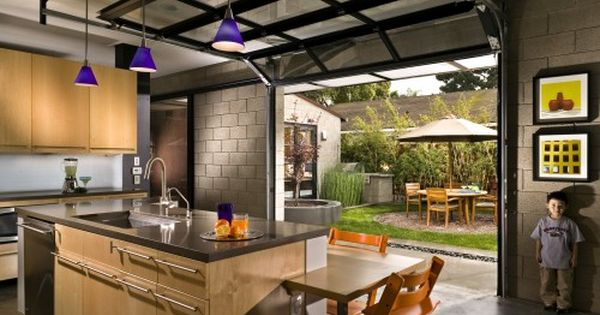 Not Just For Cars Garage Doors For The Home Garage Door Design Modern Kitchen Modern Garage Doors