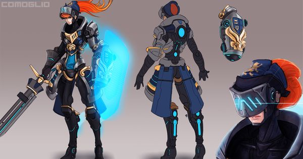 Overwatch Character Design Concept Art : Overwatch style character study polycount forum