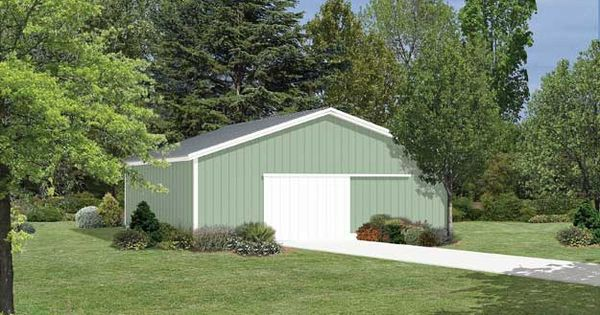 This large pole barn offers extra space as a garage for Large pole barn plans