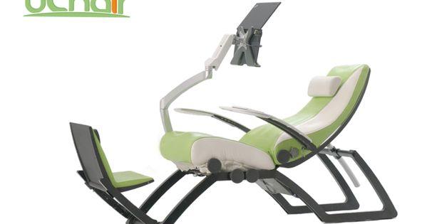 Uchair the world 39 s first integrated ergonomic pc chair indiegogo technology pinterest - Zero gee ergonomic workstation ...