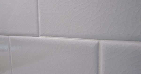 Hampton White Adex Crackle 3x6 Subway Backsplash Tile