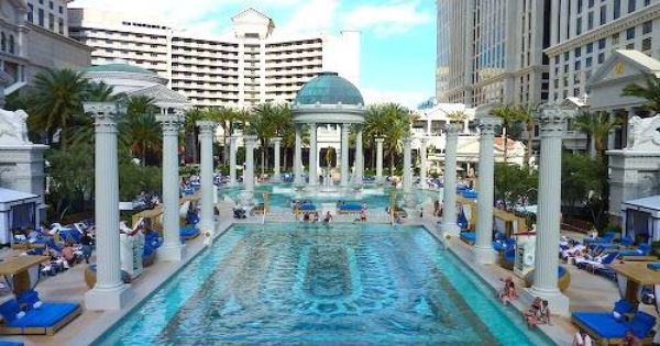 Caesars palace las vegas map of swimming pools google for Caesars swimming pool