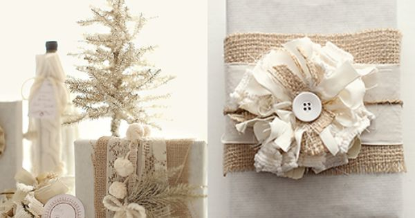 Sweet Burlap Christmas Gifts Wrapping Ideas