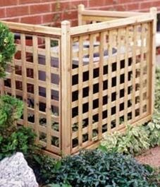 Easy To Build Lattice Screen To Hide An Ac Unit This Could Work For The Propane Tank Then Grow A Vine Hm Outdoor Projects Backyard Outdoor Living
