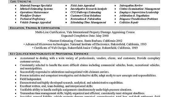 insurance appraiser resume examples 040 http