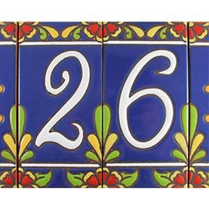 Decorative Ceramic Tile House Numbers  from i.pinimg.com