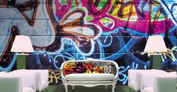 des id es deco chambre d 39 ados street art decodesign. Black Bedroom Furniture Sets. Home Design Ideas