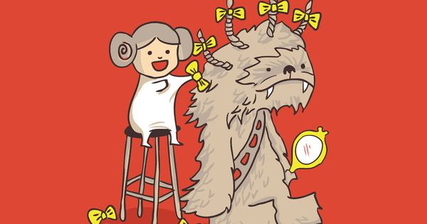 Wookie is a wonderful friend Art Print - Budi Satria Kwan