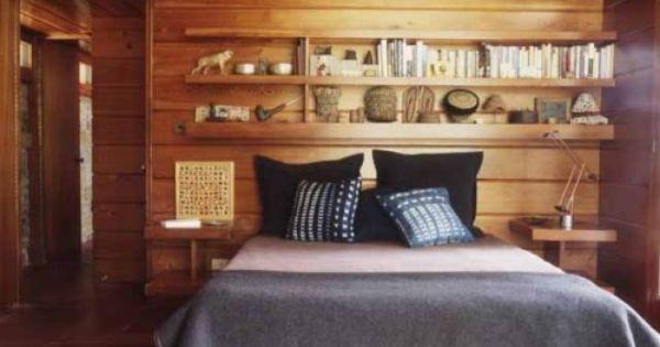 cool cabin bedroom