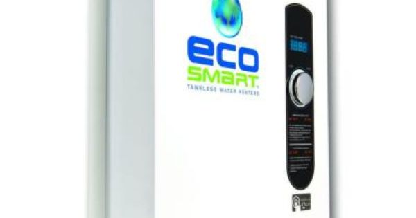 Ecosmart 24 Kw Self Modulating 4 6 Gpm Electric Tankless Water Heater Eco 24 With Images Tankless Water Heater Electric Water Heater Water Heater