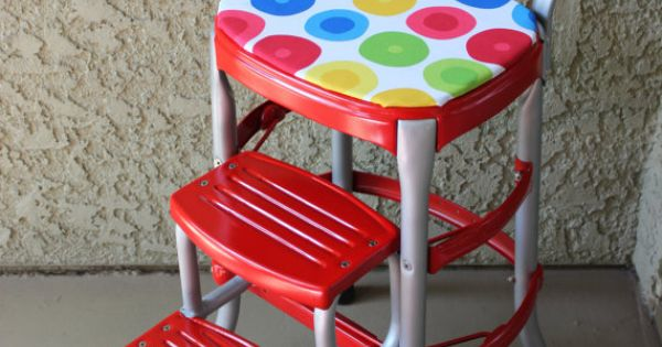 Vintage Red Cosco Step Stool Stools Kitchens And Vintage