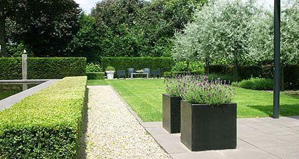 Tuinontwerp achtertuin kessel outdoor pinterest met modern en tuin - Eigentijdse landscaping ...