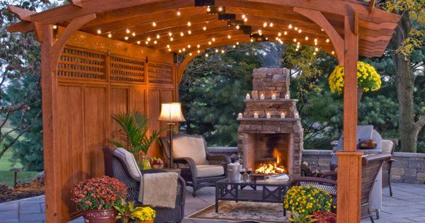 Arched hearthside pergola hogar pinterest p rgolas for Casa hogar jardin