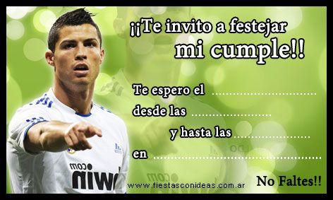Invitaciones Del Real Madrid Para Cumpleaños Buscar Con