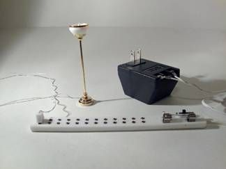 Dollhouse Electrical: Plug and Play— Using the round wire method (and  hiding wires) | Dollhouse lighting, Doll house, Dollhouse kitsPinterest