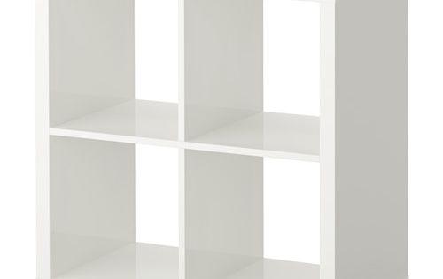 Kallax tag re brillant blanc separateur de piece for Meuble kallax blanc