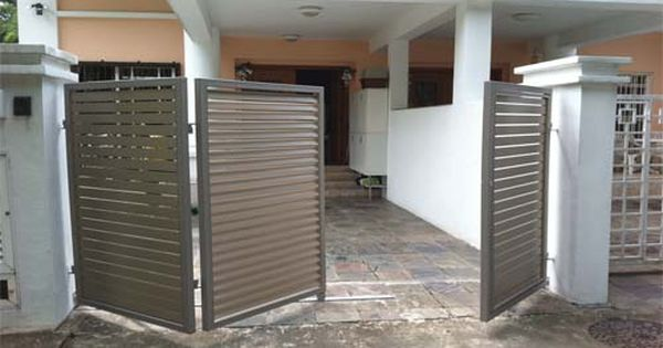 Bi folding gate garage pinterest gates for 12x7 garage door