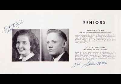 Neil Armstrong S Senior Picture In The Blume High School Yearbook