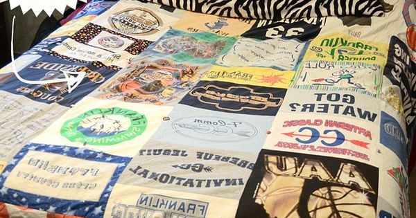 tshirt blanket craft for all my old high school shirts!