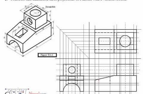 engineering drawing video tutorial isometric drawing ideas pinterest. Black Bedroom Furniture Sets. Home Design Ideas